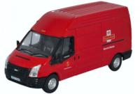 76FT024 Oxford Diecast Ford Transit Long Wheelbase Van High Roof - Royal Mail