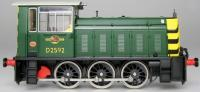 2592 Heljan Class 05 Diesel Shunter in BR Green livery with wasp stripes (early variant)