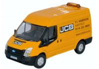 76FT027 Oxford Diecast Ford Transit Mk5 Short Wheelbase Van Medium Roof - JCB