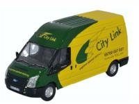 76FT025 Oxford Diecast Ford Transit Long Wheelbase Van High Roof - City Link Couriers