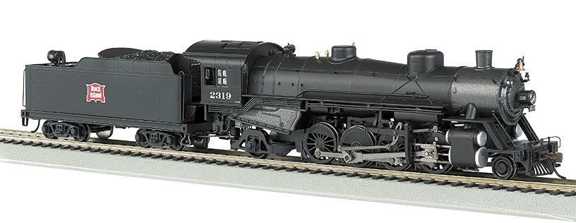 54402 Bachmann USRA Light Mikado 2-8-2 Steam Locomotive number 2319 in Rock Island livery