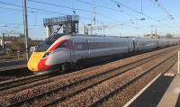 10-1674 Kato Class 800/2 Azuma 5 Car EMU Set number 800 209 in LNER livery