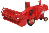 76CHV001 Oxford Diecast Combine Harvester Red