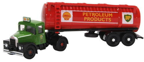 76SHT001 Oxford Diecast Scammell Highwayman Tanker Shell/BP