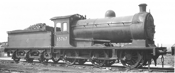 OR76J26002XS Oxford Rail LNER J26 Steam Locomotive number 65767 in BR livery with early emblem
