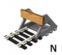 PBF-N-01 Proses Buffer Stop With Wooden Bumper x2
