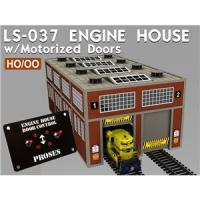 LS-037 Proses Dual Road Modern Engine Shed with motorised doors
