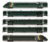 "R3872 Hornby Hitachi IEP Bi-Mode Class 800 5 Car Unit in GWR ""Trainbow"" livery - Era 11"