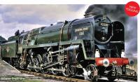 "R3988 Hornby 9F 2-10-0 Steam Loco number 92220 ""Evening Star"" in BR Green livery with Late Crest - Era 5"