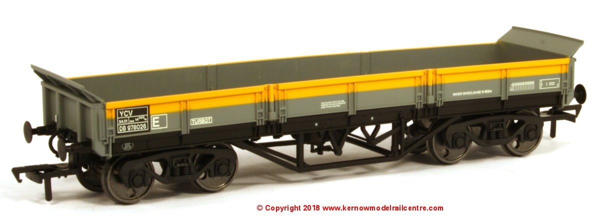 SB006M YCV Turbot Bogie Ballast Wagon number DB978026 in Civil Engineers Dutch livery