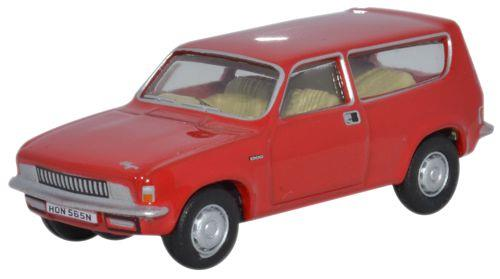 Diecast 76ALL002 Oxford Diecast Flamenco Red Austin Allegro Estate