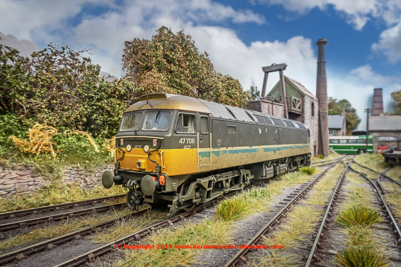 31-653ZDS Bachmann Class 47 Diesel Locomotive number 47 706 in ScotRail livery with NSE branding and weathered finish