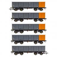 ACC2100BSC Accurascale PTA JTA + JUA Bogie Tippler Wagon - British Steel Grey and Orange Outer Pack
