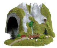 3016 Busch HO/OO Tunnel with stream and wooden footbridge