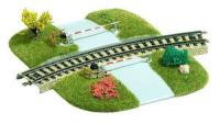 3209 Busch HO Curved Level Crossing