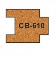 CB-610 Proses 10 X Pre-Cut Cork Bed for R610 Short Straight Track