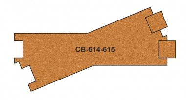 CB-614-5 Proses 10 X Pre-Cut Cork Bed for R614-615 Cross Tracks