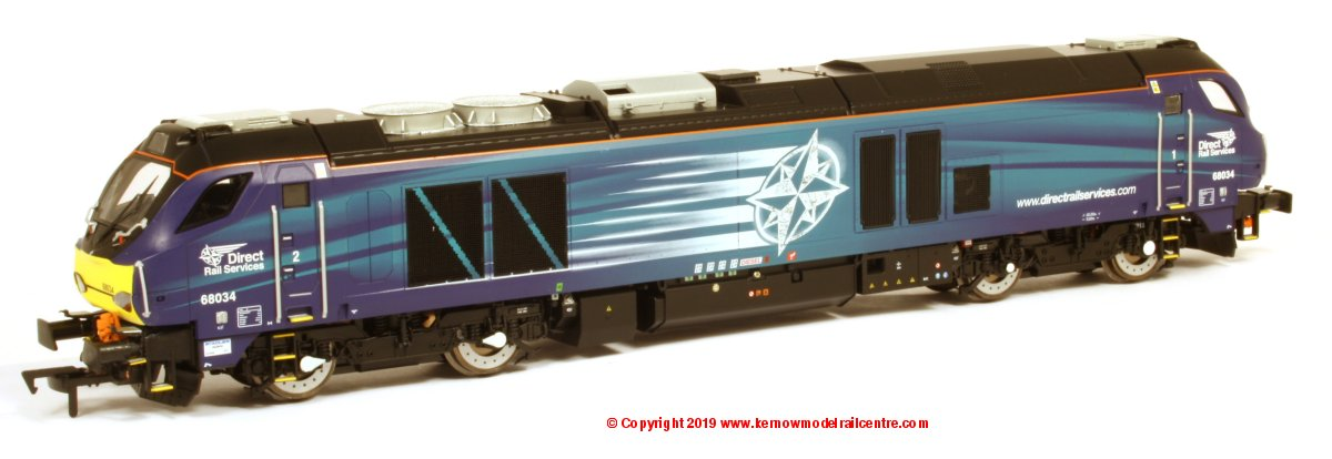 4D-022-016D Dapol Class 68 Diesel Locomotive number 68 034 in DRS Compass livery