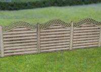 GM452 Gaugemaster Wooden Fencing with Lattice Top Laser Cut Kit