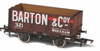 76MW7020 Oxford Rail 7 Plank Open Wagon number 321 - Barton and Co Wrexham