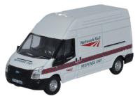 76FT022 Oxford Diecast Ford Transit Long Wheelbase Van High Roof - Network Rail Response Unit