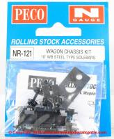 NR-121 Peco 10ft Wheelbase Wagon Chassis kit - steel type solebars