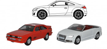76SET68 Oxford Diecast Audi Set 3pc (Quattro/TT/S3 Convertible)