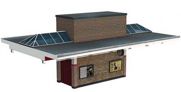 Pre-Built Bachmann 44-066 Scenecraft Art Deco Station Building