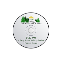 TCD-008 Taliesin A CD Of A Busy Steam Railway Station ( Narrow Gauge )