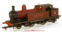 31-168 Bachmann L&YR 2-4-2 Tank number 10713 in LMS Crimson livery