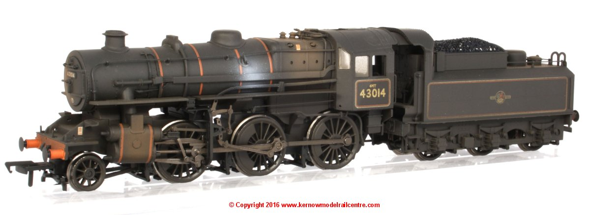 32-580A Bachmann Ivatt Class 4MT Steam Locomotive number 43014 in BR Black livery with Late Crest and Weathered finish