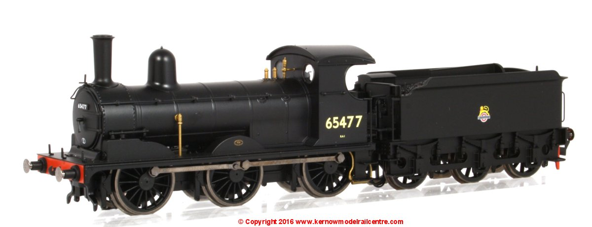 R3415 Hornby J15 Class Steam Locomotive number 65477 in BR Black livery with early emblem.