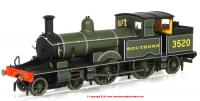 76AR006XS Oxford Rail Adams Radial Steam Locomotive number 3520 in Southern Green livery