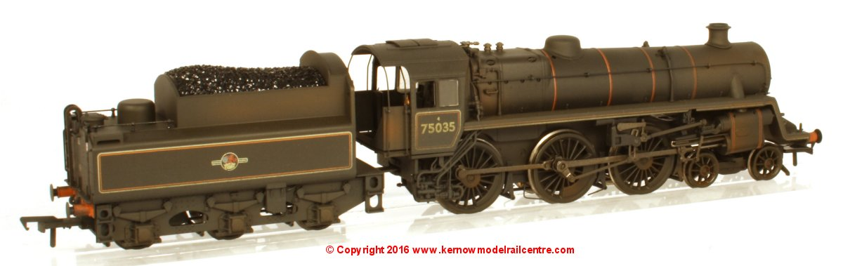 31-119 Bachmann BR Standard Class 4MT Steam Locomotive number 75035 in BR Lined Black livery with late crest and weathered finish