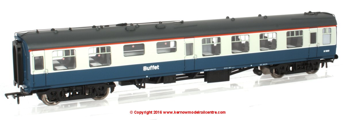 39-264A Bachmann BR Mk1 RMB Miniature Buffet Car number M1869 in BR Blue & Grey livery