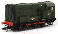 R3484 Hornby Class 08 Diesel Shunter number 13363 in BR Green livery with Late Crest