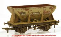 37-508 Bachmann 24 Ton Ore Hopper Wagon number B435493 in BR Grey livery with weathered finish
