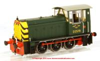 2501 Heljan Class 05 Diesel Shunter number D2578 in BR Green livery with wasp stripes