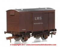 4F-011-018 Dapol Ventilated Van number 155005 in LMS Bauxite livery with weathered finish