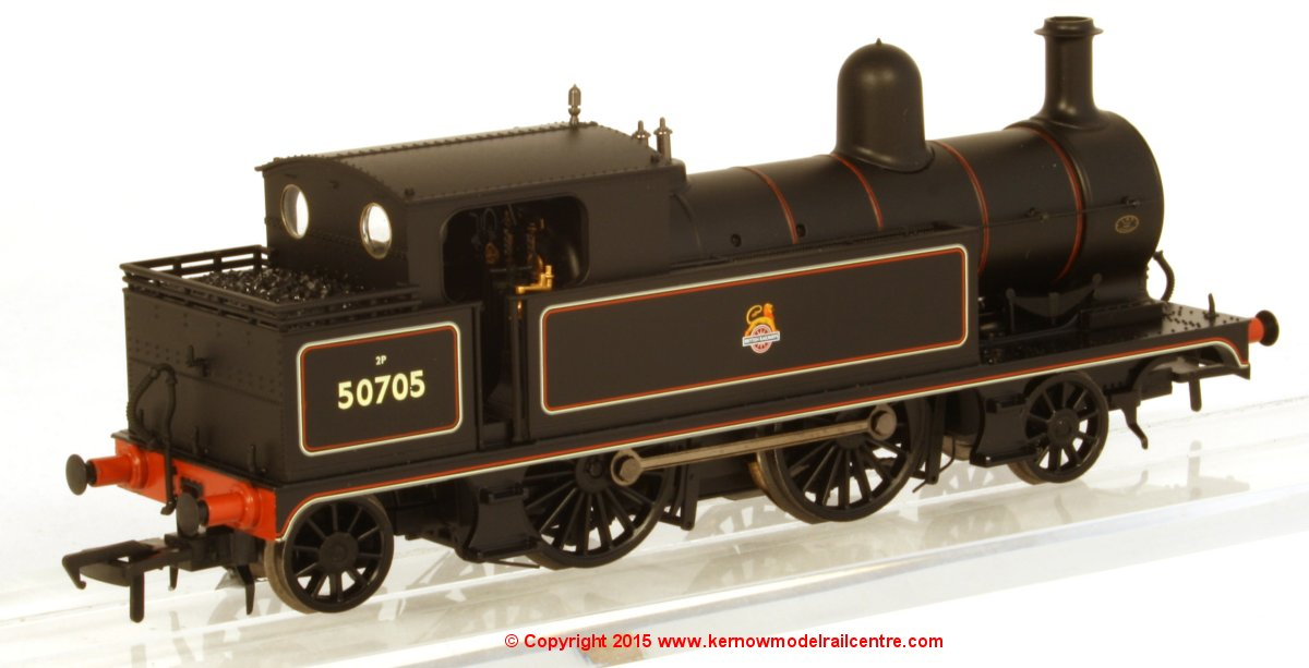 31-169 Bachmann L&YR 2-4-2 Tank number 50795 in BR Lined Black livery with early emblem