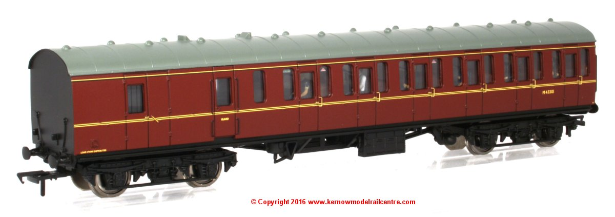 34-630B Bachmann BR MK1 Suburban Second Brake Coach number M43301 in BR Lined Maroon livery