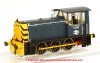 2522 Heljan Class 05 Diesel Shunter number D2595 in BR Blue livery with wasp stripes