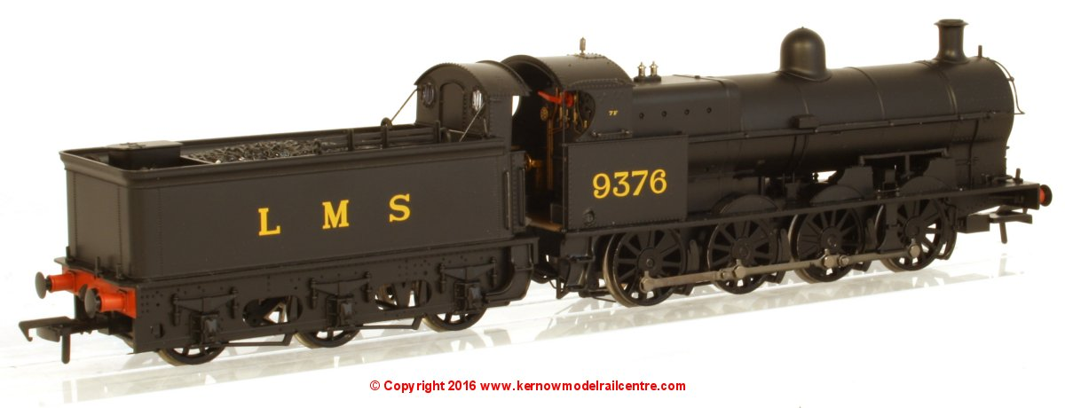31-480 Bachmann G2A Steam Locomotive number 9376 in LMS Black livery with Tender Back Cab