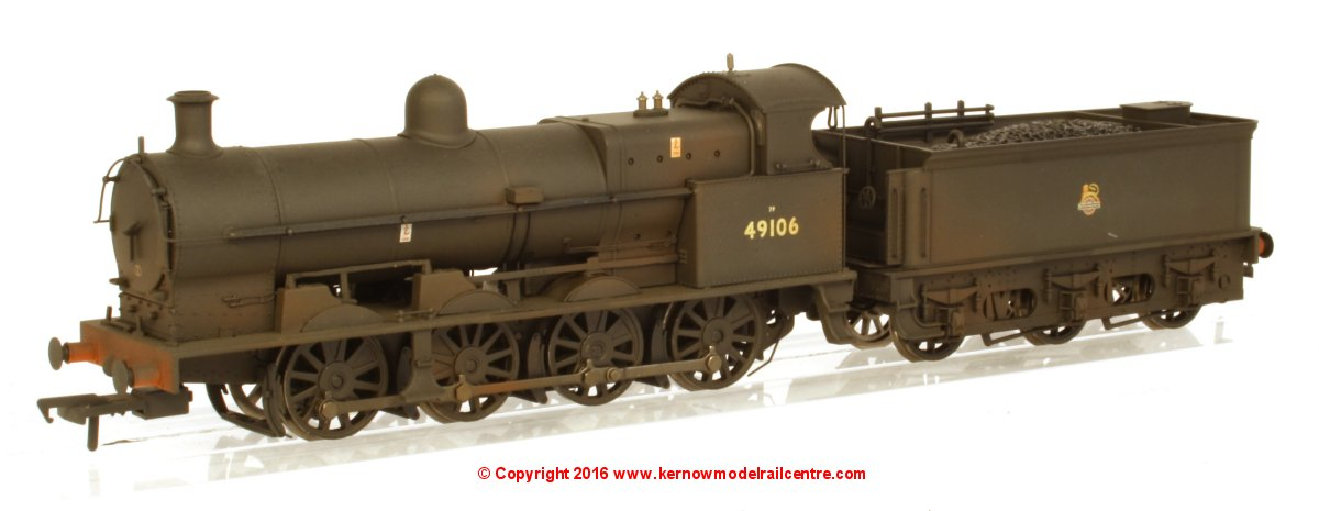 31-481 Bachmann G2A Steam Locomotive number 49106 in BR Black livery with Early Emblem and Weathered finish