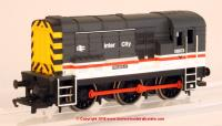 "R3490 Hornby Railroad Class 08 Diesel Shunter number 08 673 named ""Piccadilly"" in Intercity livery"