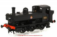 1323 Heljan 1366 Steam Locomotive number 1367 in BR Black livery with early emblem