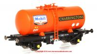 1109 Heljan 4 Wheel B Tank Wagon number 201 in Mobil Charrington livery