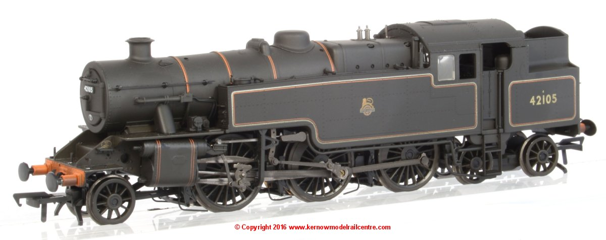 32-881 Bachmann Fairburn 2-6-4 Tank number 42105 in BR Lined Black livery with early emblem and weathered finish