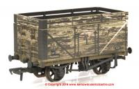 37-209 Bachmann 8 Plank Wagon number P63984 with Coke Rails in BR livery with weathered finish