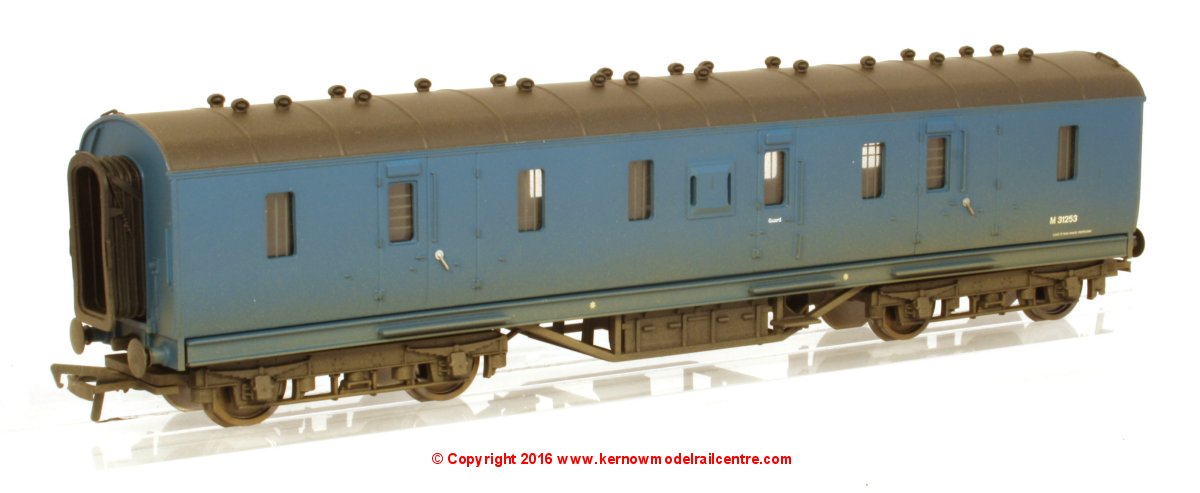 34-328A Bachmann 50ft. Ex-LMS PIII Parcels Van number M31253 in BR Blue livery with weathered finish
